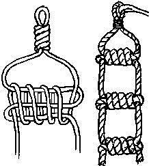 Как сделать канат (канатную лестницу) своими руками 2