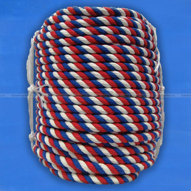 Канат цветной хлопчатобумажный 10 мм