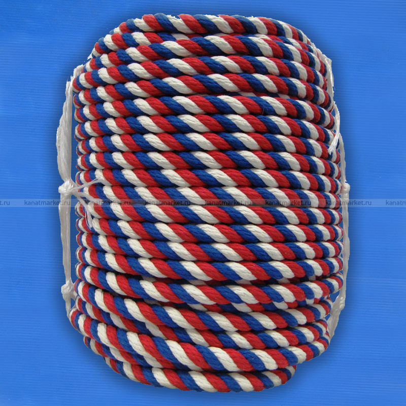 Канат цветной хлопчатобумажный 30 мм