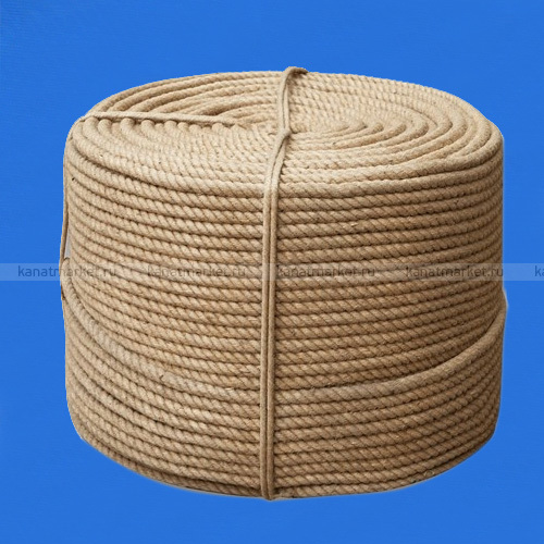 Верёвка джутовая 14 мм