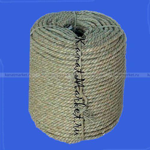 Веревка льняная 3-прядная 9 мм