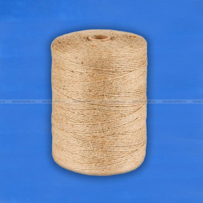 Шпагат джутовый 1,67 ктекс П 3 полированный в бобинах по 3,0 кг